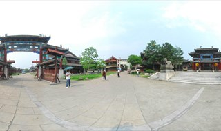 Upper River during Qing Ming Festival Panorama vie