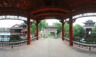 Upper River during Qing Ming Festival 360 panorami