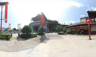 Upper River during Qing Ming Festival 360 panorama