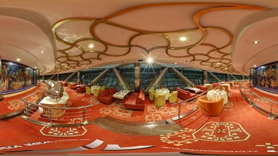 Milad Tower Restaurant Indoor Panoramic Image