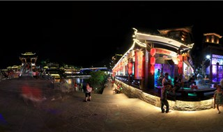Night view of Fenghuang 360 degree panorama