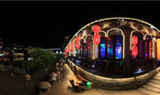 Night view of Fenghuang 360 panoramic photo