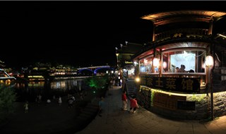 Night view of Fenghuang virtual travel