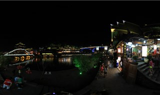 Night view of Fenghuang 360 virtual travel