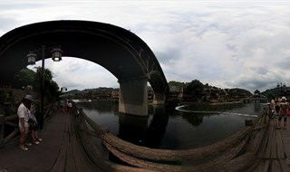 360 panoramic view of From Ting Bridge to Fenghuang Second Bridge