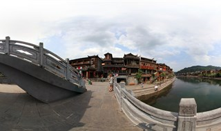 360 panorama of From Ting Bridge to Fenghuang Second Bridge