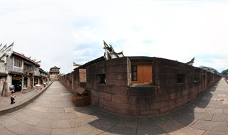 360 panorama view of East Gate to North Gate Wall