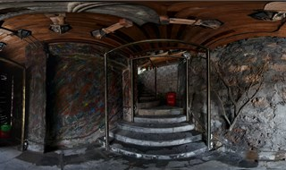 Watchmen of Ancient Town bar 360 panoramic photo