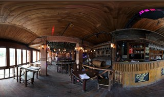 Watchmen of Ancient Town bar 360 panorama view