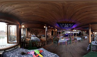 Watchmen of Ancient Town bar 360 panorama