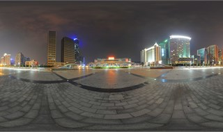 Nightscape of Guangzhou East Station