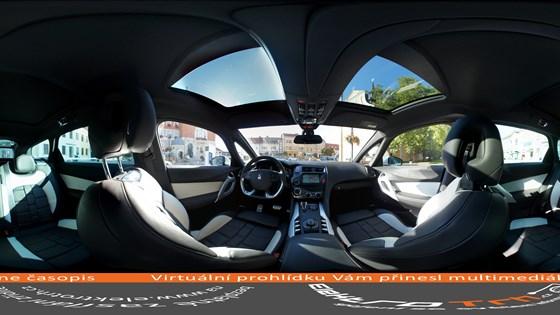 Interior of hybrid Citroen DS5 - Car - Panoramic Image