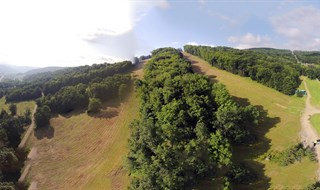 Aerial of EVL Trail Run