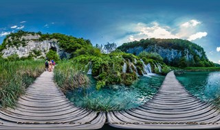Plitvice lakes bridge
