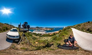 Shooting gigapan at port of Dubrovnik
