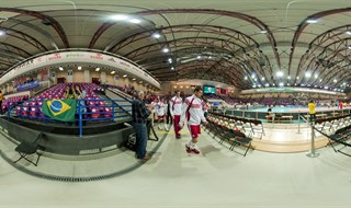 FIVB Volleyball World League 2013. Poland vs Brasil in Torwar, Warsaw, Poland