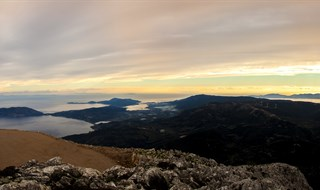 A panoramic view from the top of Mount Ortholithi. The mount is in Peloponnese, Greece.
