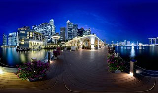 Night view at Marina Bay.
