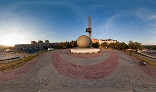 360 panorama of ancient Russian city Kaluga