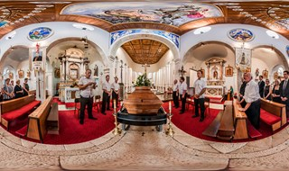 Funeral of captain Ivo Furčić 09.07.2013. at 15th Century Church of St. George
