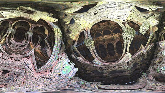 Here's some panoramic fractals for your enjoyment. [OC]