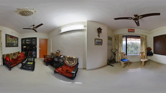 Living room 360 degree view indoor panoramic image for House 360 view