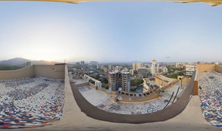 Top View of Thane - GB Road. Have you seen the Bird in this Panorama ?