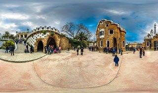 The main entrance to Park Güell