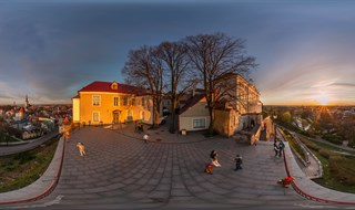 Sunset in Old Town of Tallinn, Estonia