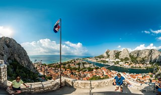 View to Omiš from Mirabela fortress