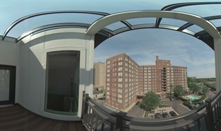 Apartment sun deck, St Louis