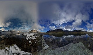 Autumn and winter in one 720 degree panorama