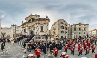 Dubrovnik's Brass Band at Saint Blaise of Gorica, Dubrovnik, 2016.