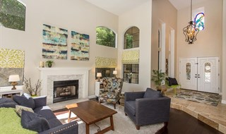 Agoura Hills Designer Perfect Estate - Living Room Pano 360 - Jeffrey Diamond Realtor Berkshire Hath