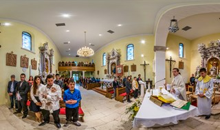 The Christening of Nora Markić at Church of Saint Martin, Donji Dolac,  2016.