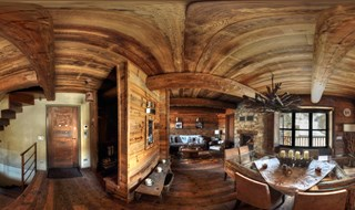 mountain house wooden interior