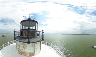 Top of Robbins Reef lighthouse