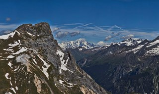 360 pano with 135mm lens from the top of Le Petit Mt Blanc