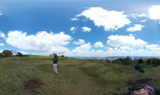 Top of Mt Eden Volcano