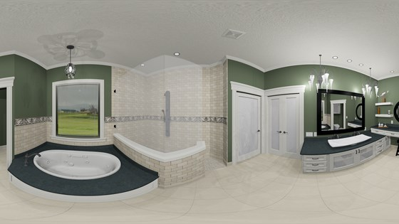 Lopez Master Bath Indoor Panoramic Image