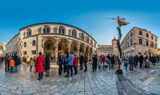 Rector's Palace at Christmas Eve, Dubrovnik, Croatia, 2016.