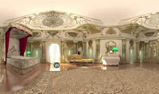 Royal bedroom in Dubai