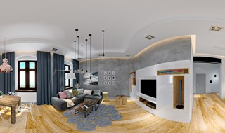 LIVING ROOM  & DINNING  design sketchup or 3dmax