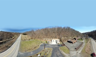 Aerial 360 Pano of Campbells Run Rd. property