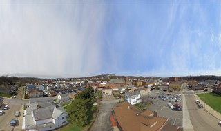 Aerial 360 Pano of 2nd Avenue Carnegie, PA