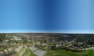 Aerial 360 High Above 7th Ave. Park in Carnegie, PA