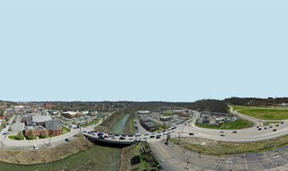 Aerial 360 Panorama of Rt.50 and I-79 in Bridgeville, PA