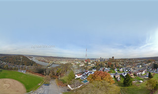 Aerial 360 Panorama above Pittsburgh's Mt. Washington